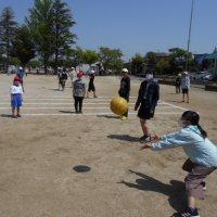 業間休みのボール遊び(4月20日)